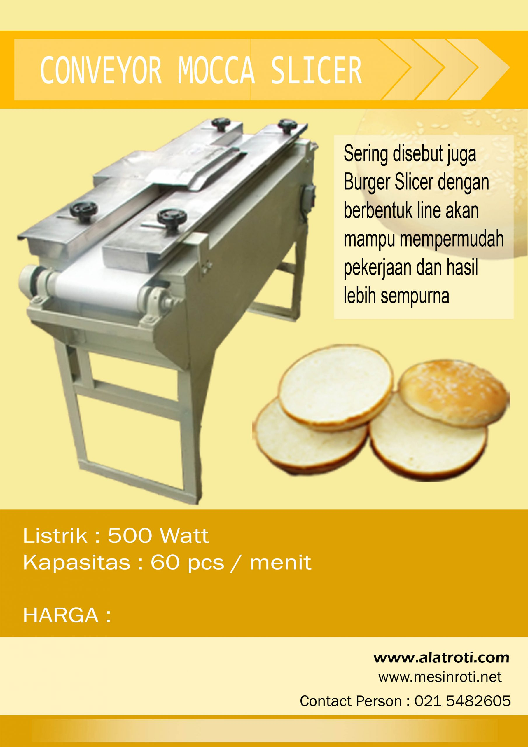 Mocca Slicer / Burger Slicer (Conveyor)