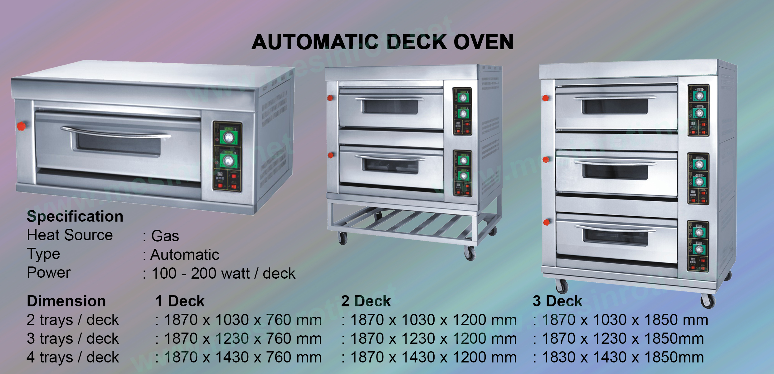 Automatic Deck Oven (Haolu)